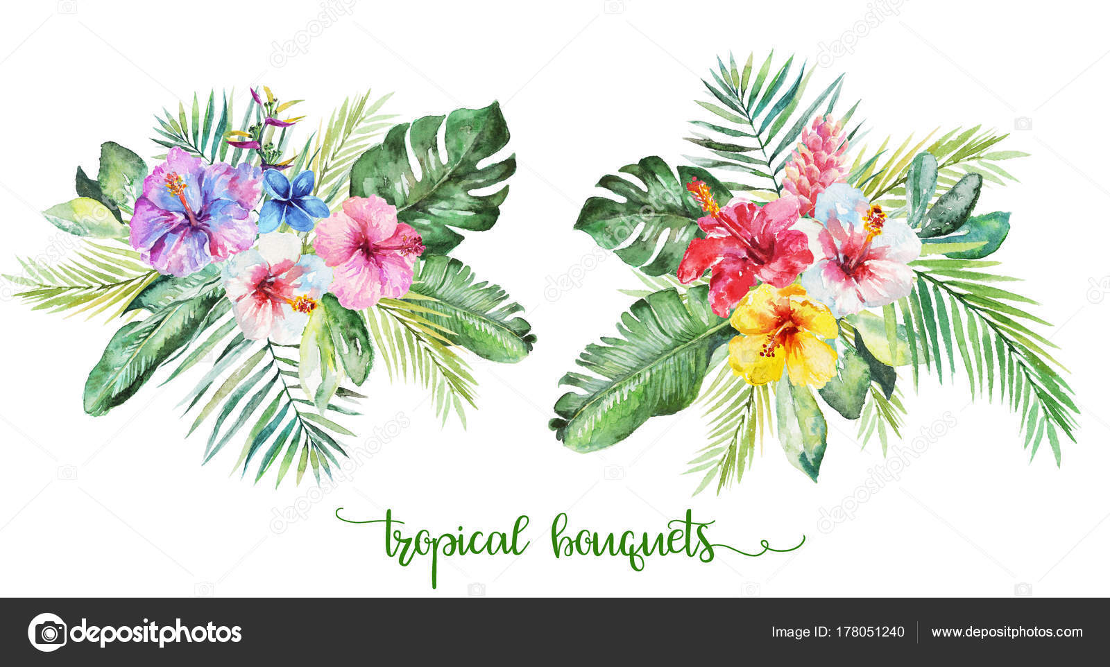 Tropical Flower Bouquets Wedding