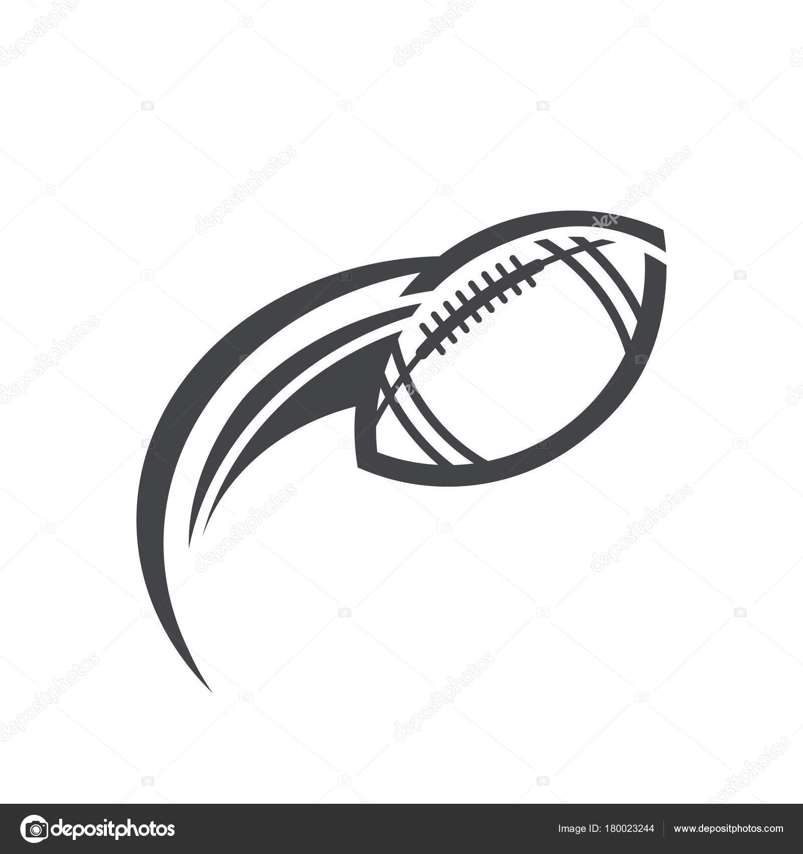 American Football Logo Icon Swoosh Design