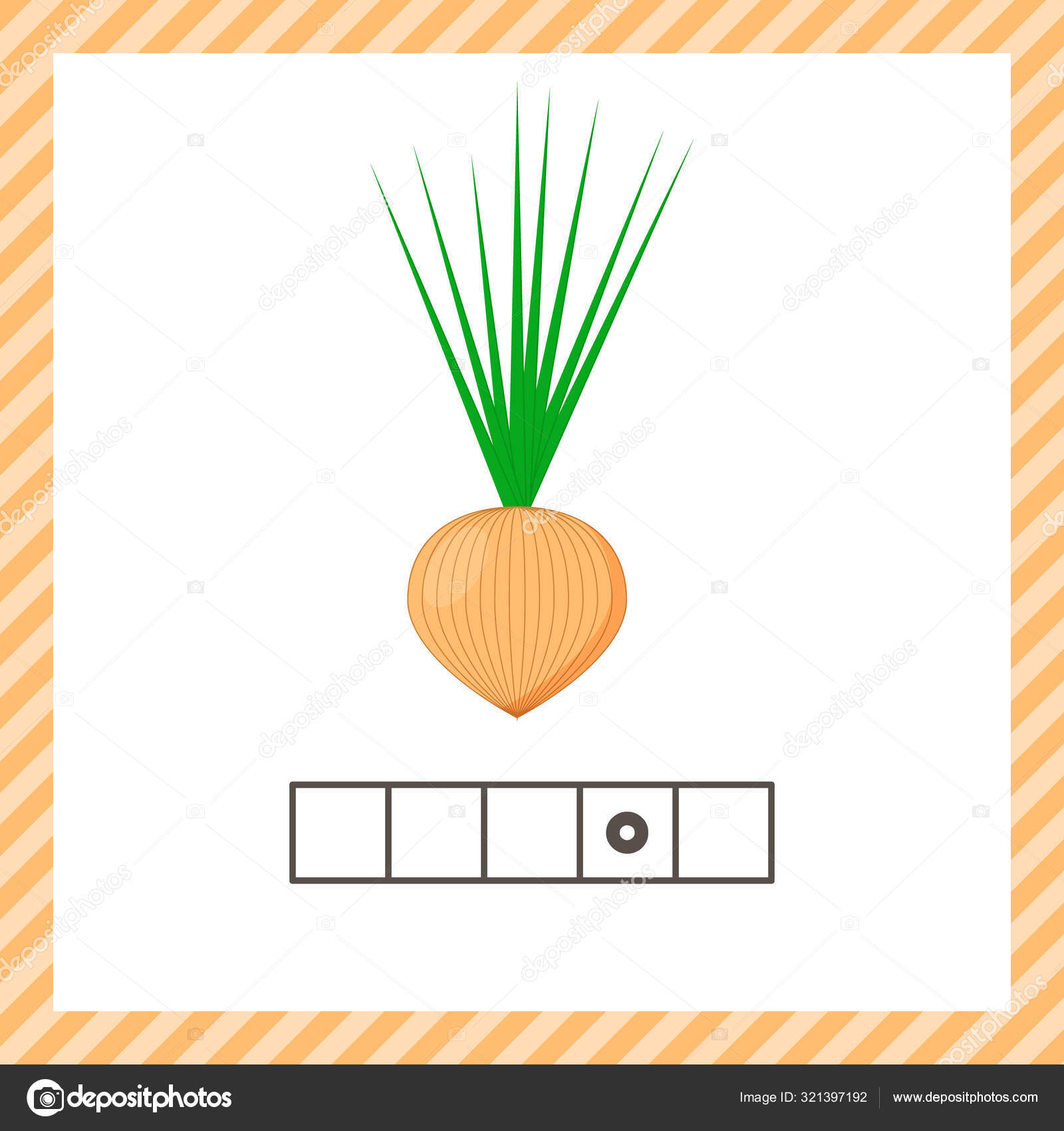 Vegetable Onion Educational Logic Worksheet For