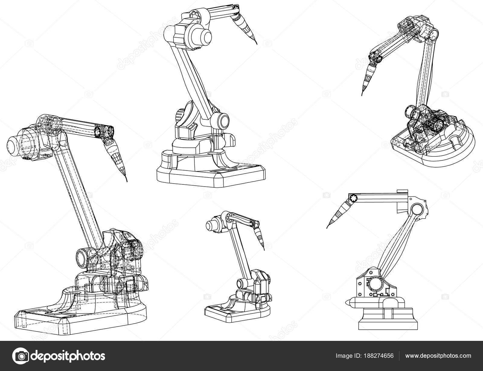 Modelo 3d De Um Robo De Solda