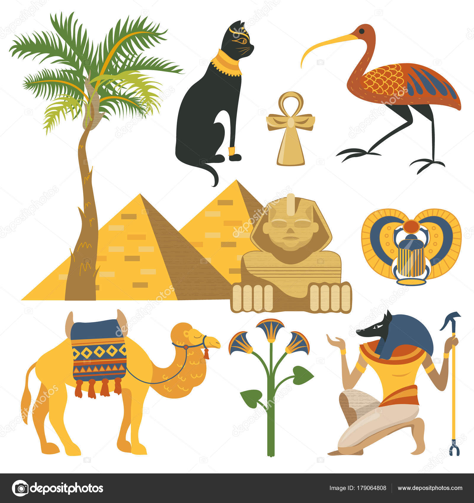 Egypt Set Ancient Egyptian Religion And Cultural Elements