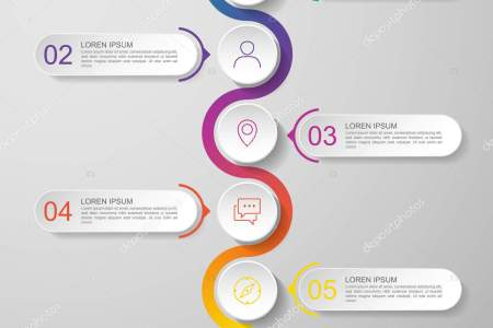 infographics timeline design template vector with 3D paper label     Infographics timeline design template vector with 3D paper label   integrated circles  Business concept with