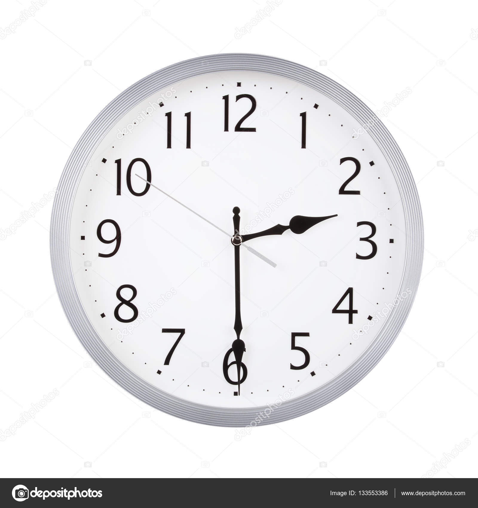 Half Past Two On A Clock Face