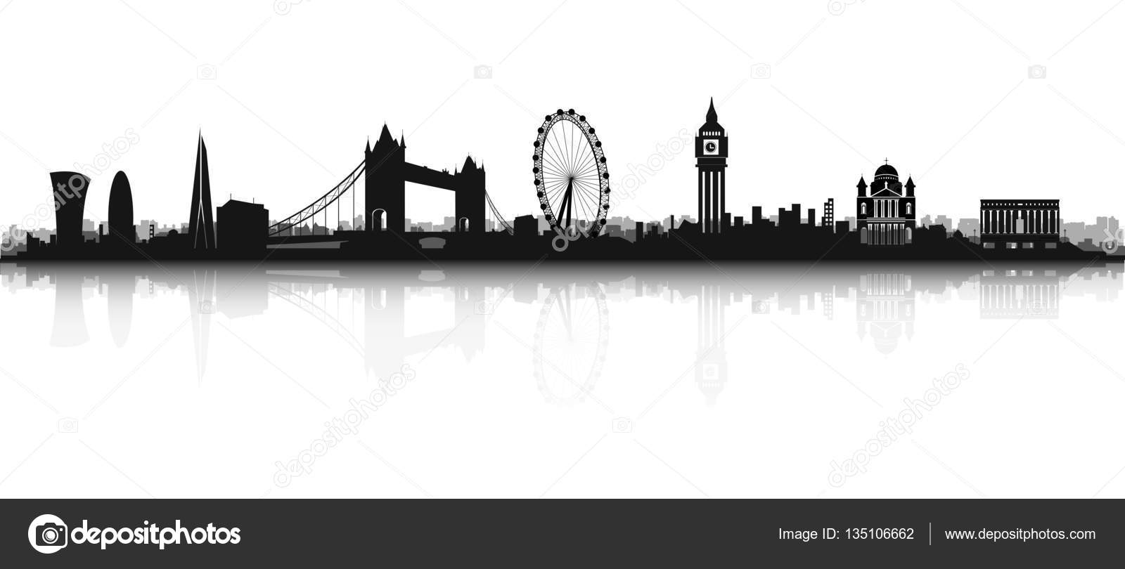 Silhouette De Skyline London