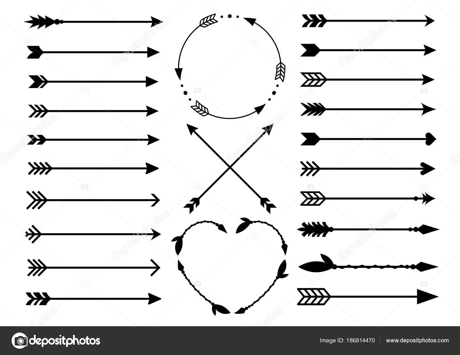 Hipster Arrows Arrows In Boho Style Criss Cross Tribal