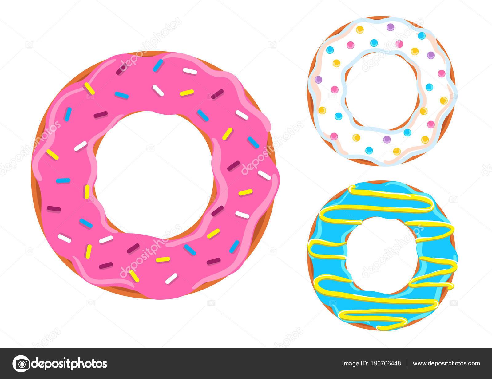 Donut Font Vector Letter O