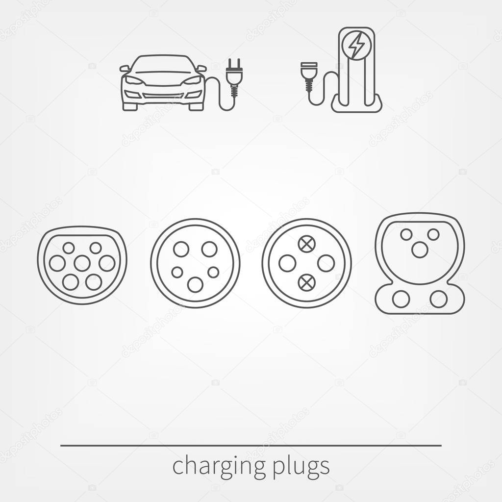 Plug Connector For Charging Electric Vehicle