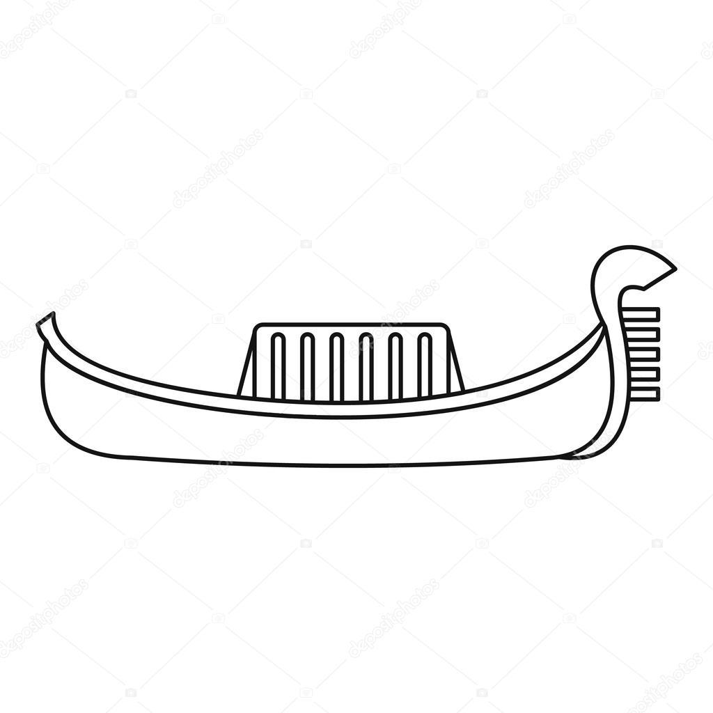Gondel Symbol Umriss Stil