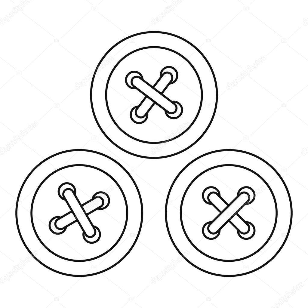 Buttons For Sewing Icon Outline Style