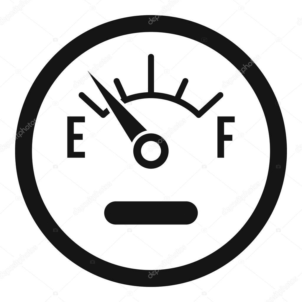 Kraftstoff Sensor Symbol Einfachen Stil