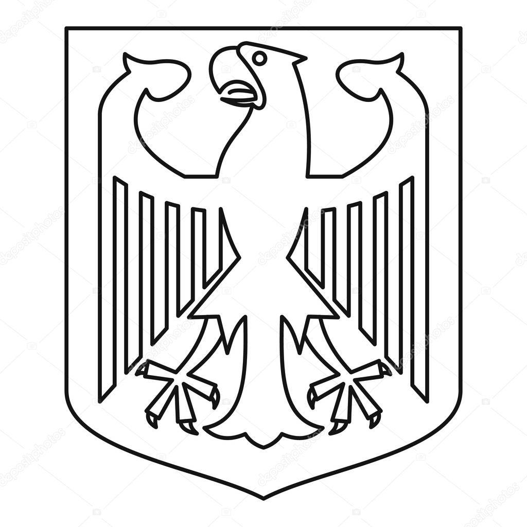 Deutsche Wappen Symbol Umriss Stil