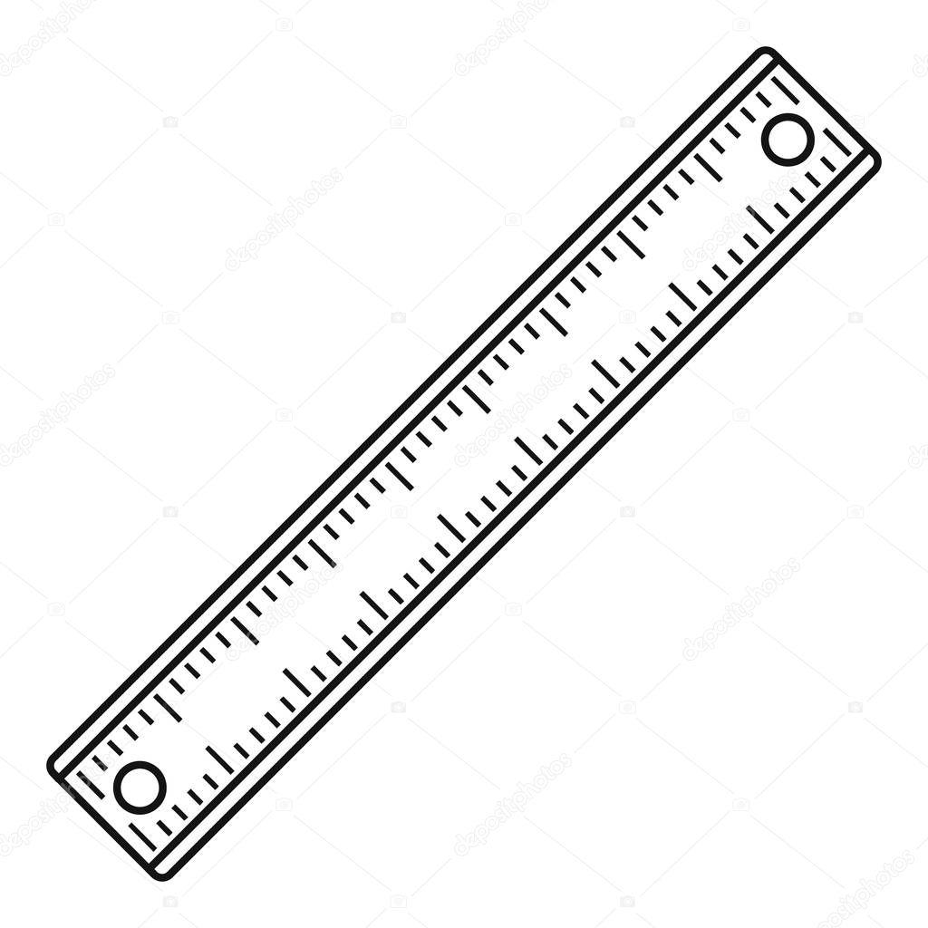 Ruler Rectangular Shape Icon Outline Style