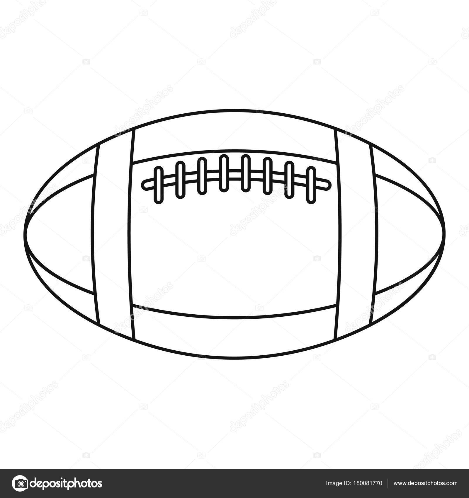 Fotbal Nebo Rugby Mi Ikona Styl Osnovy