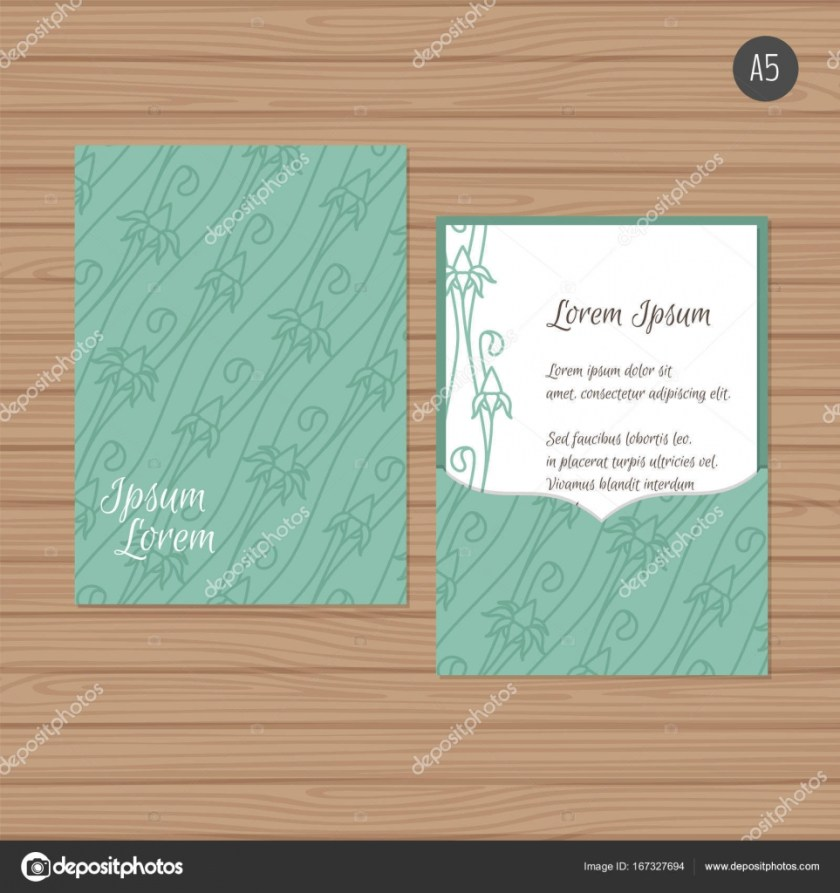 Wedding Invitation Or Greeting Card With Fl Ornament Paper Lace Envelope Template Mock Up For Laser Cutting