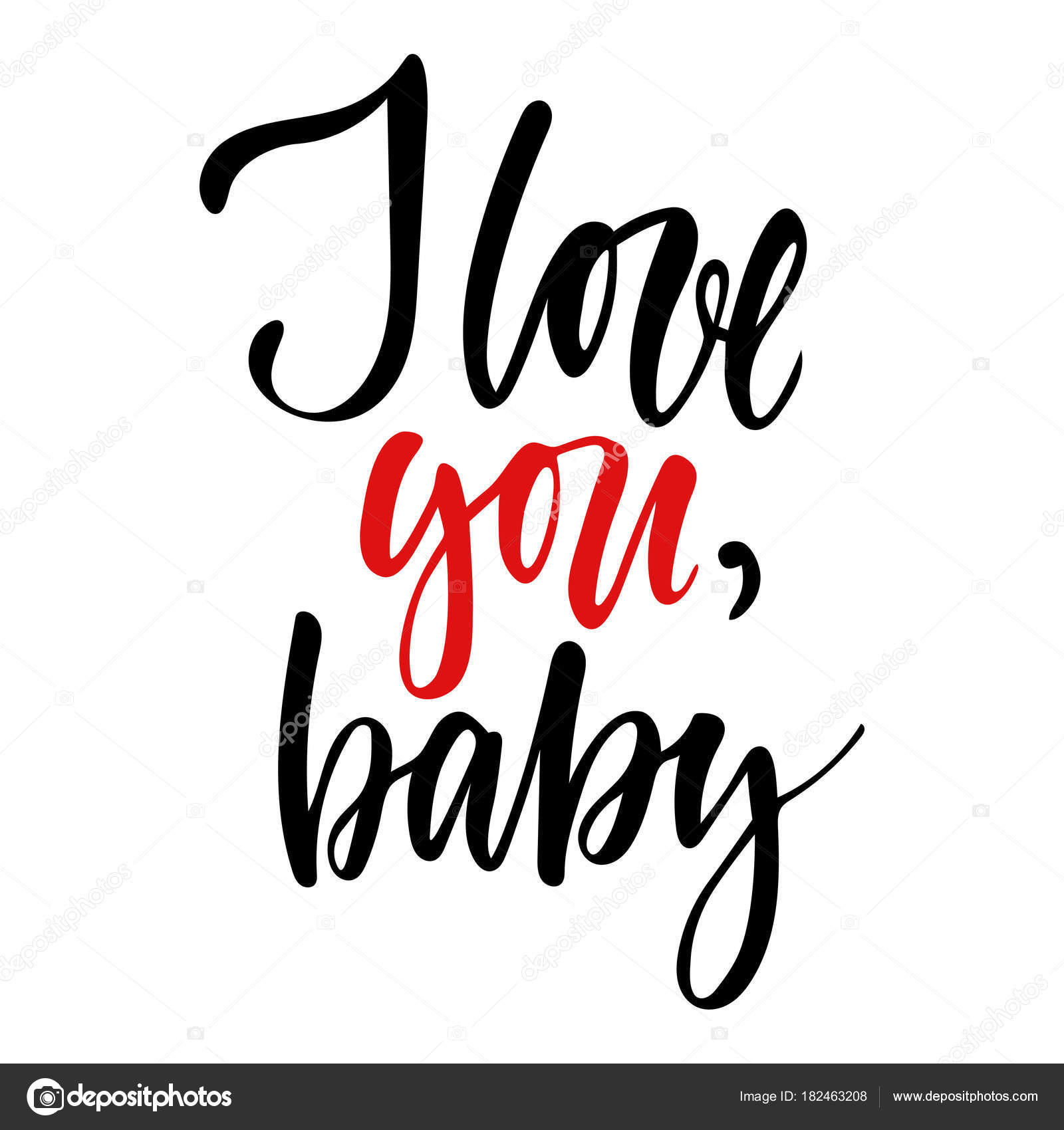 Vector Isolated Happy Valentines Day Illustration With