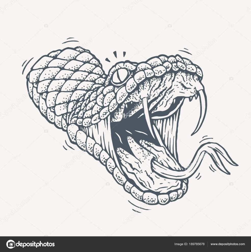 ядовитая змея татуировки векторное изображение Zayatsandzayats