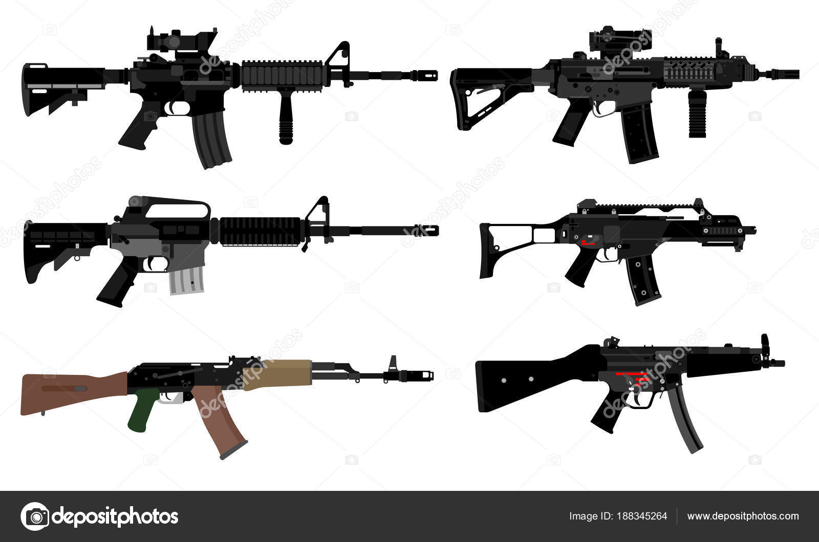 Illustration Automatic Weapons