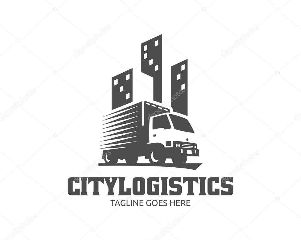 Logotipo Logotipo De Carga Caminhoes De Carga De Entrega