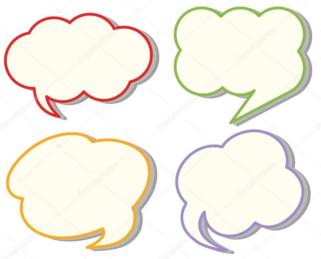 Quatro Modelos De Discurso De Nuvem Diferente