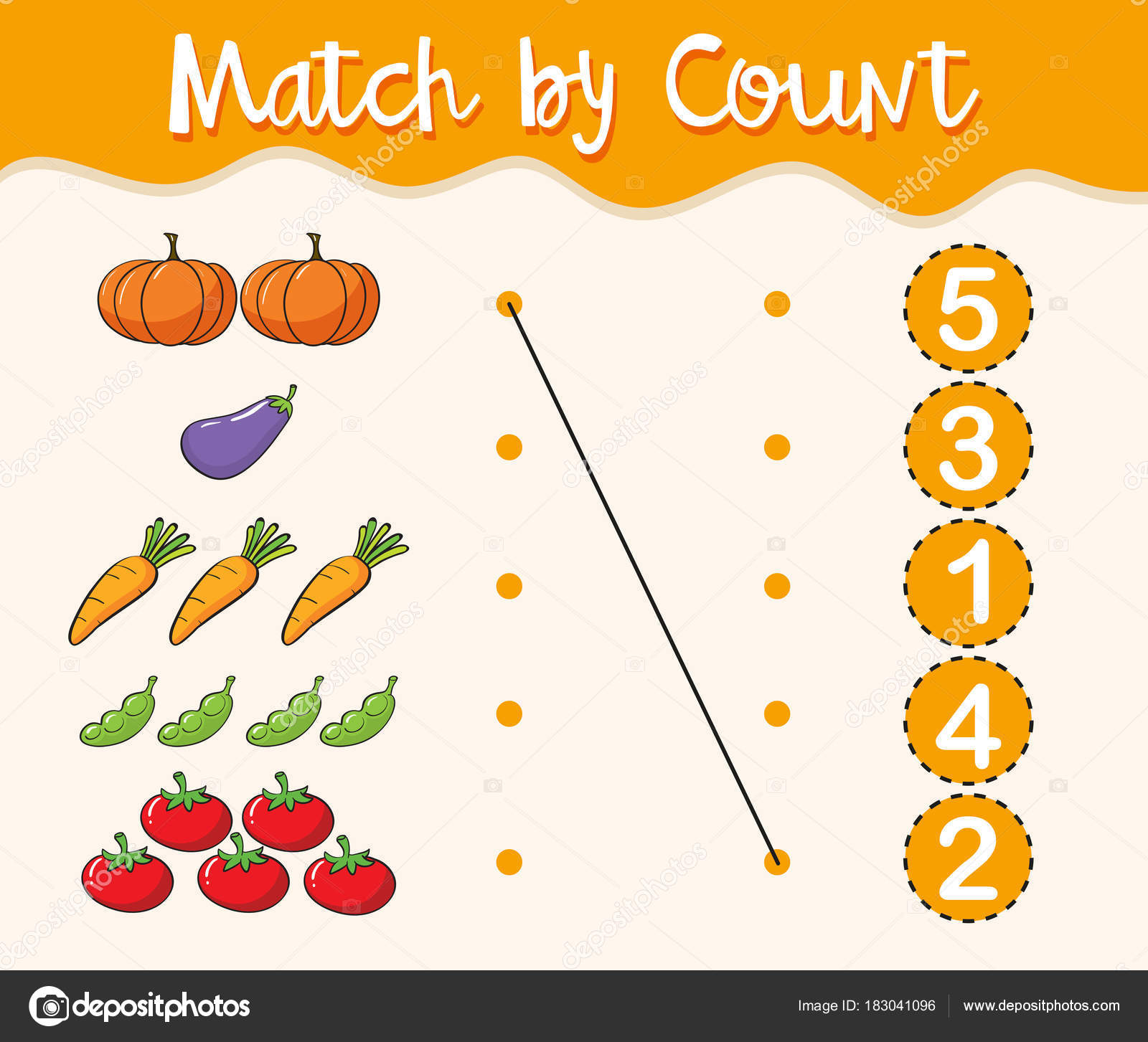 Math Worksheet Template With Matching Numbers And