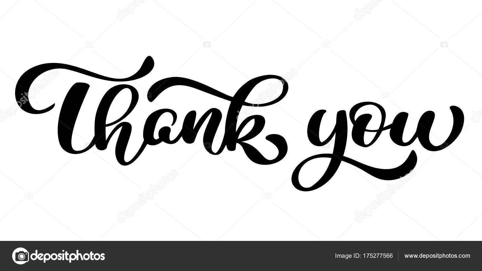 Thank You Handwritten Inscription Hand Drawn Lettering