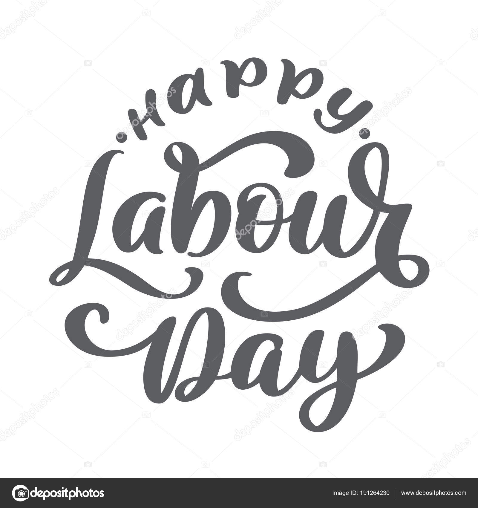 Happy 1st May Lettering Vector Background Labour Day Logo