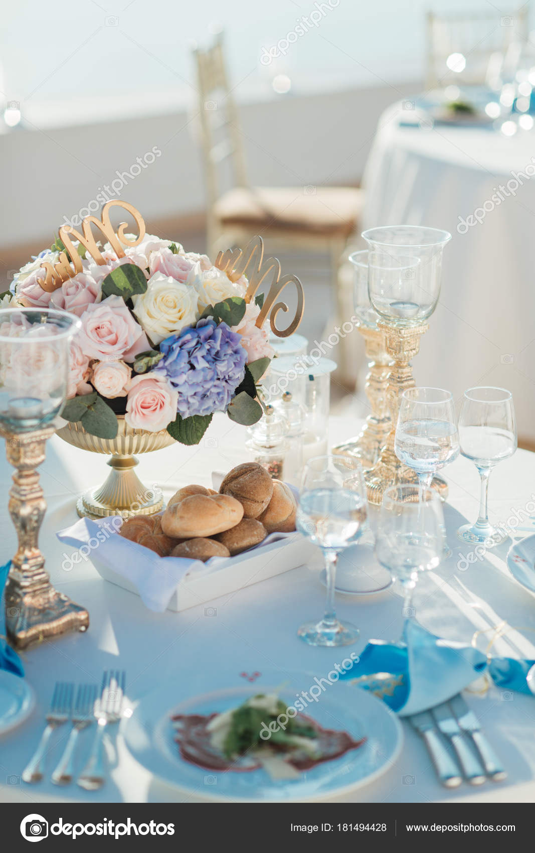 Blue And White Wedding Decorations Wedding Decor Tables