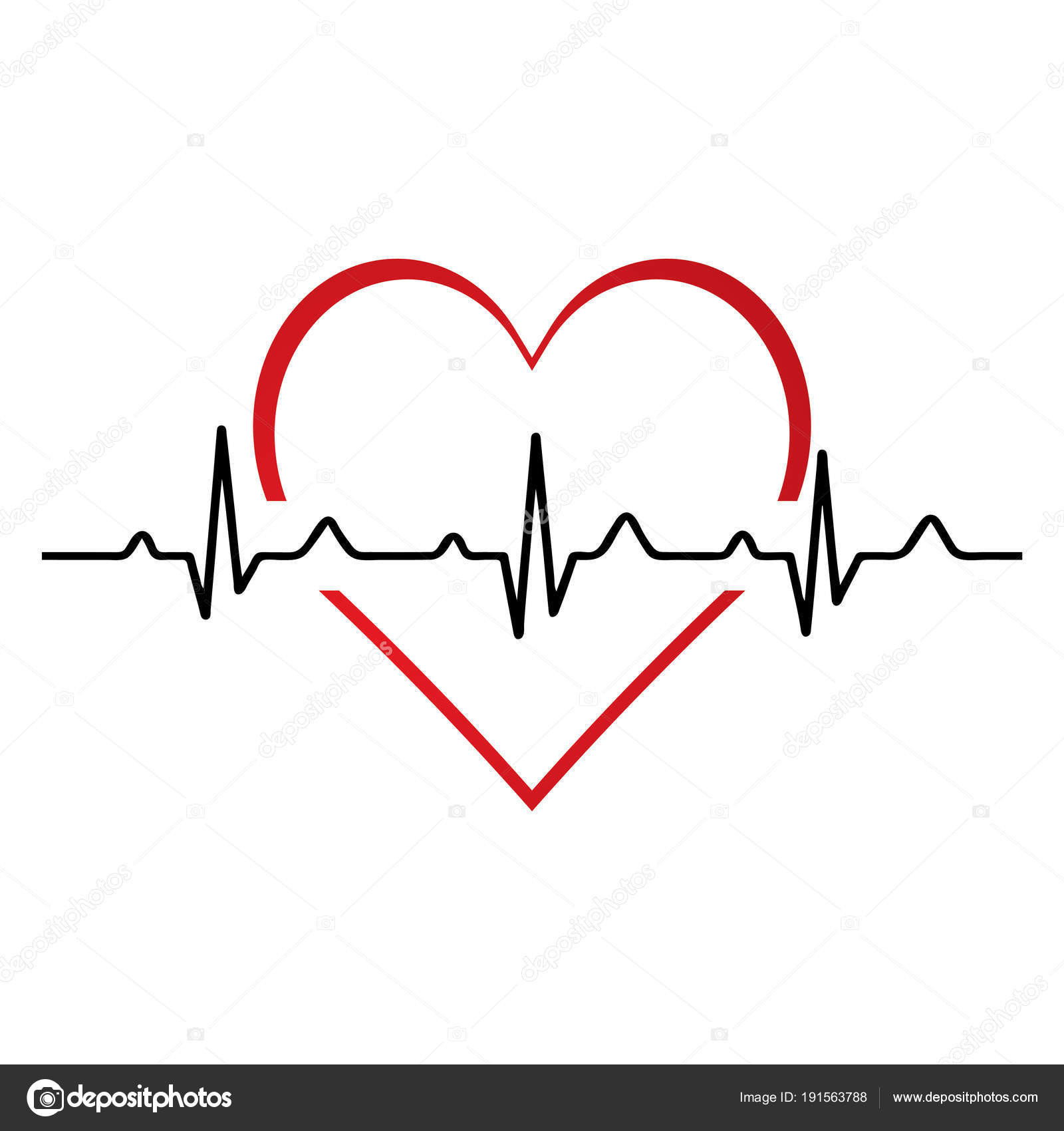 Heartbeat Heart Beat Pulse Flat Icon For Medical