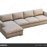 Chalet Modular Beige Leather Upholstery Sofa With Chaise Lounge 3d Render Stock Photo C 3dmitruk 329508282