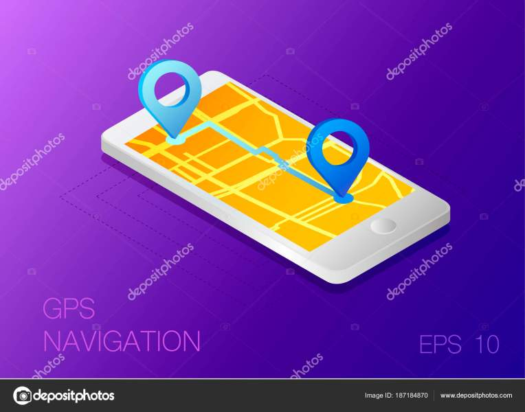 Gps Map Navigation App Smartphone Screen Vector Illustration     Stock     Gps Map Navigation App Smartphone Screen Vector Illustration     Stock Vector