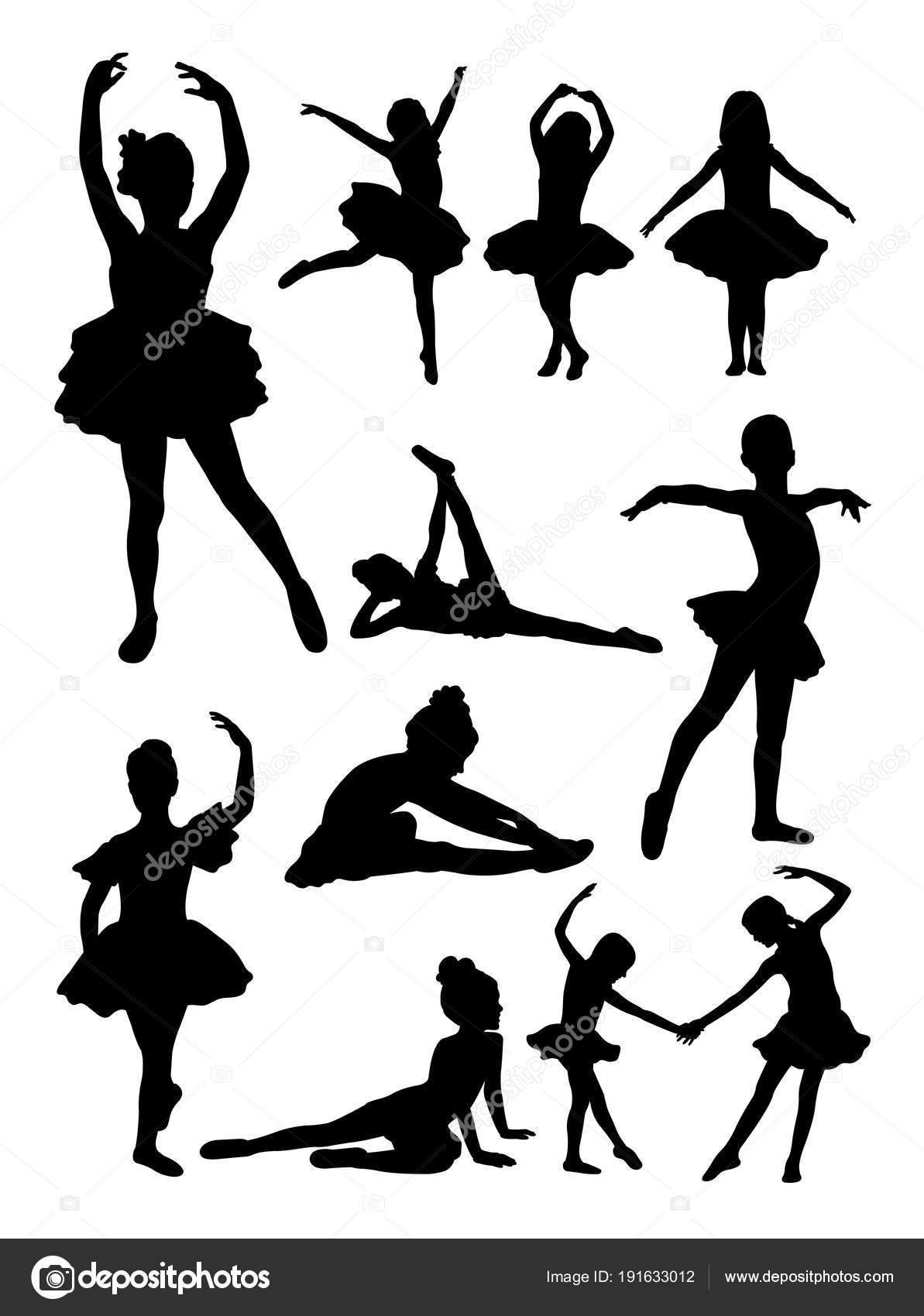 Sagoma Ballerina Poco Buon Uso Simbolo Logo Icone Web