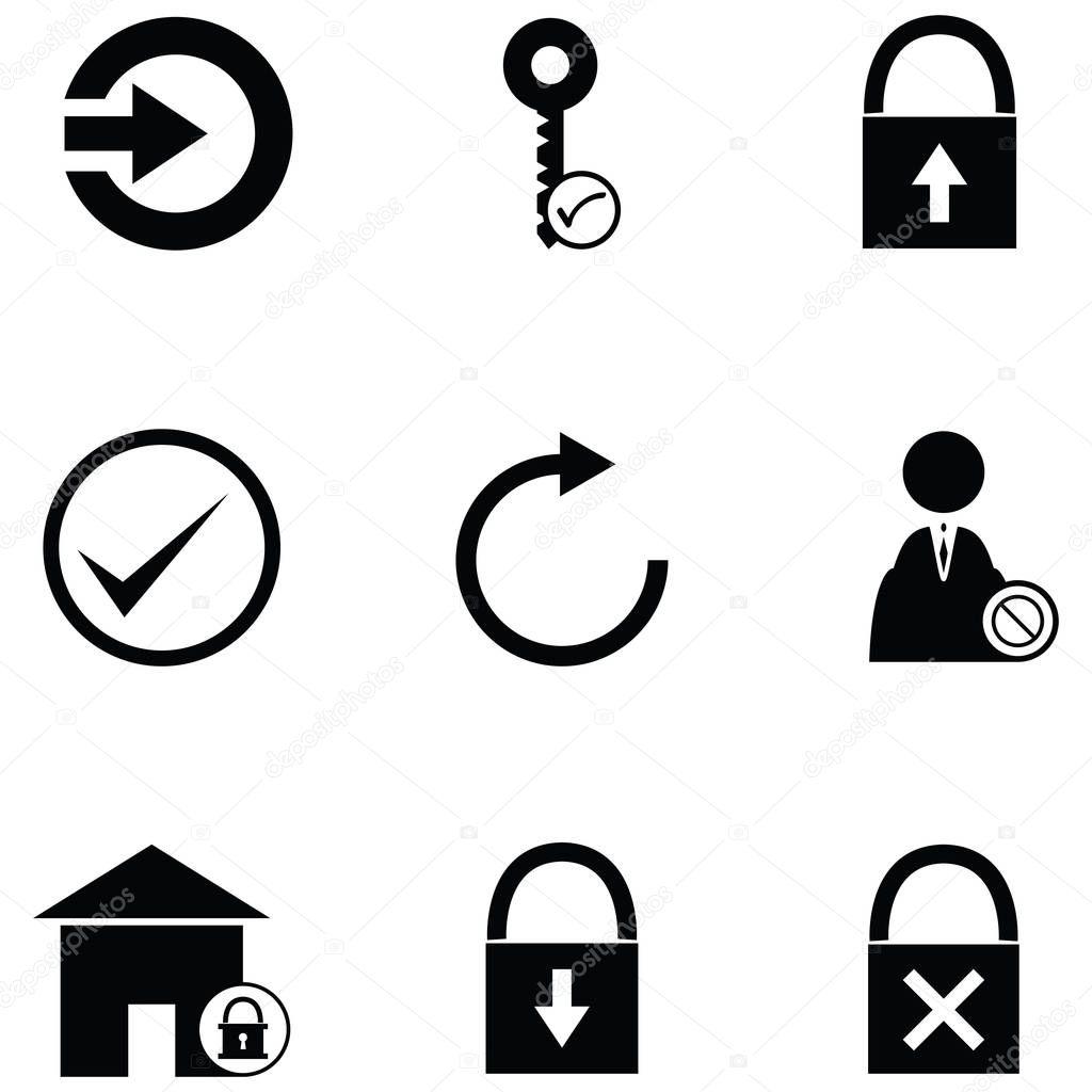 Conjunto De Icones De Login