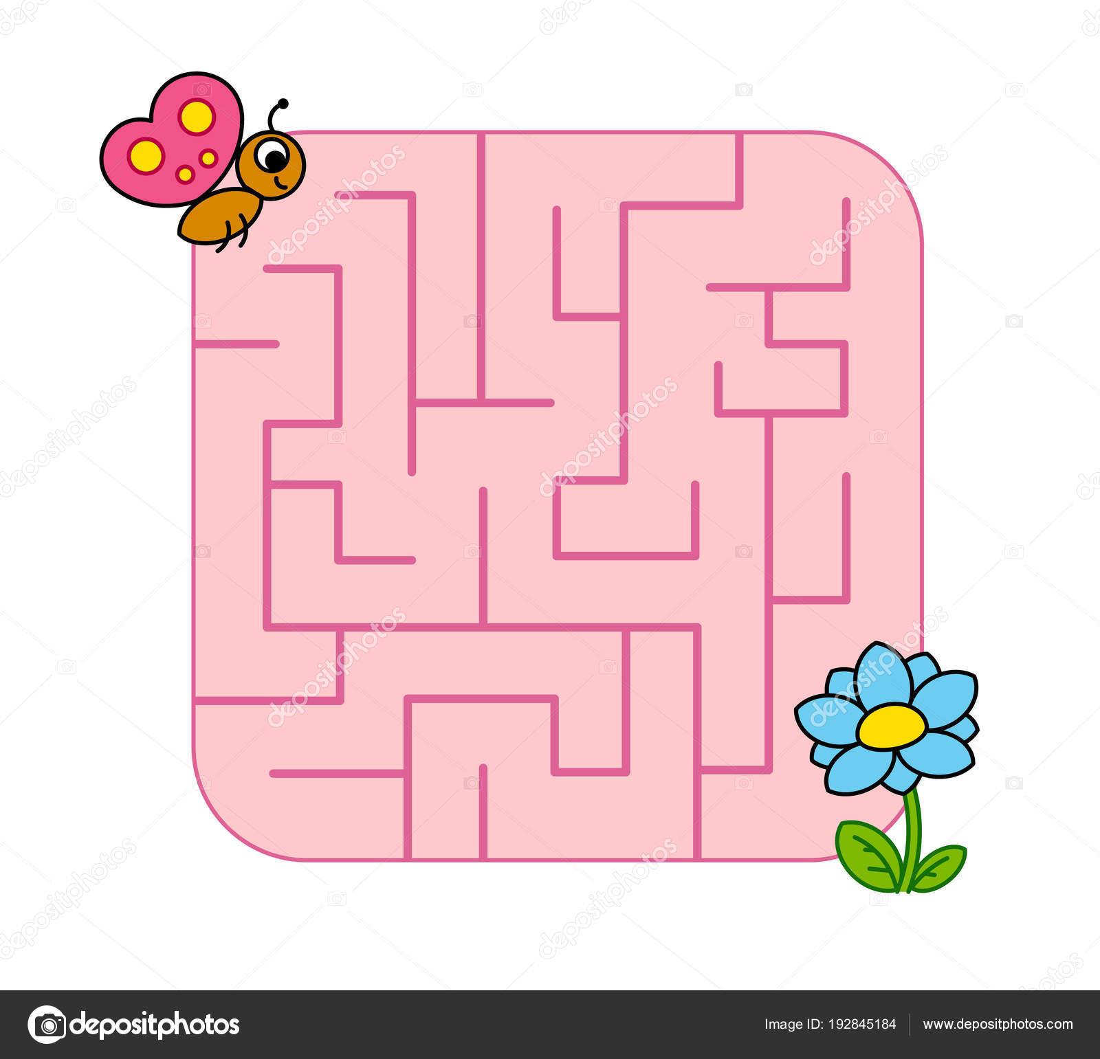 Help Baby Butterfly Cub Find Path Flower Labyrinth Maze