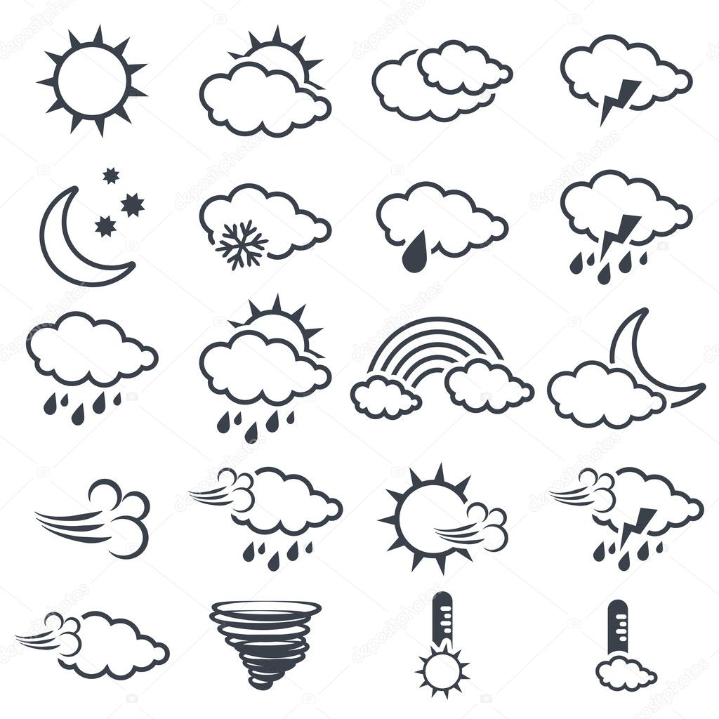 Set Of Weather Symbols