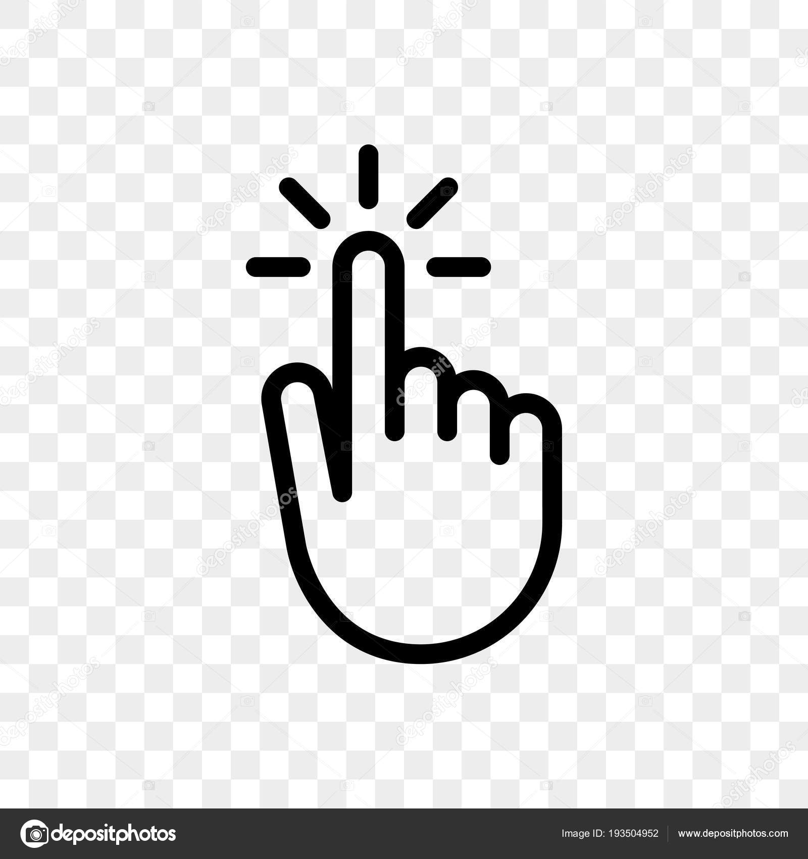 Click Finger Hand Press Or Push Vector Icon