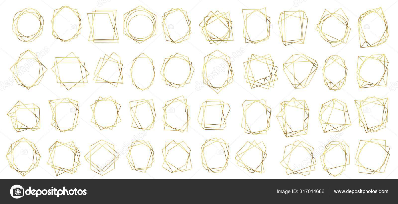 https depositphotos com 317014686 stock illustration golden geometric frames abstract geometrical html