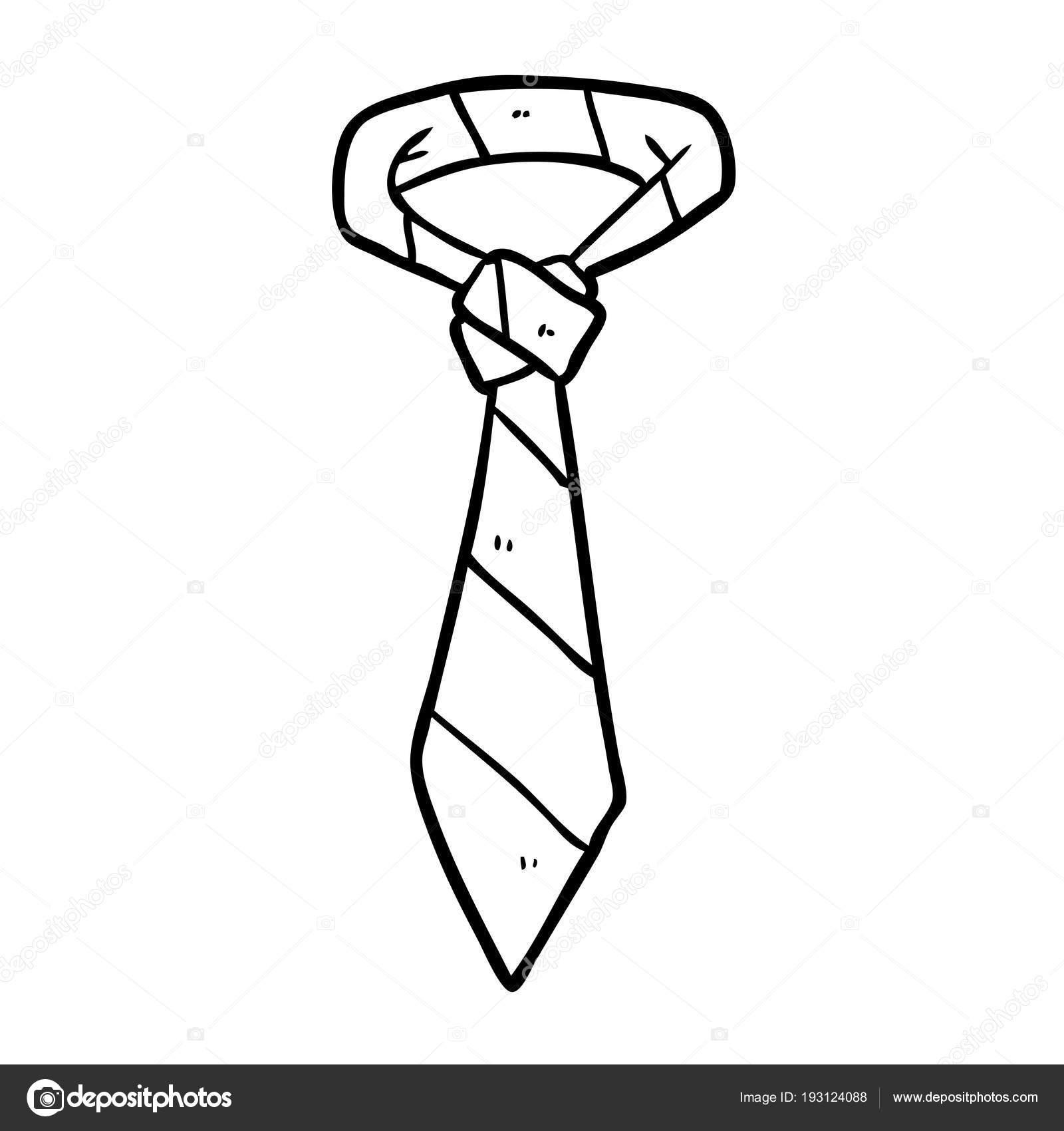 Dibujo Una Corbata Rayas Oficina