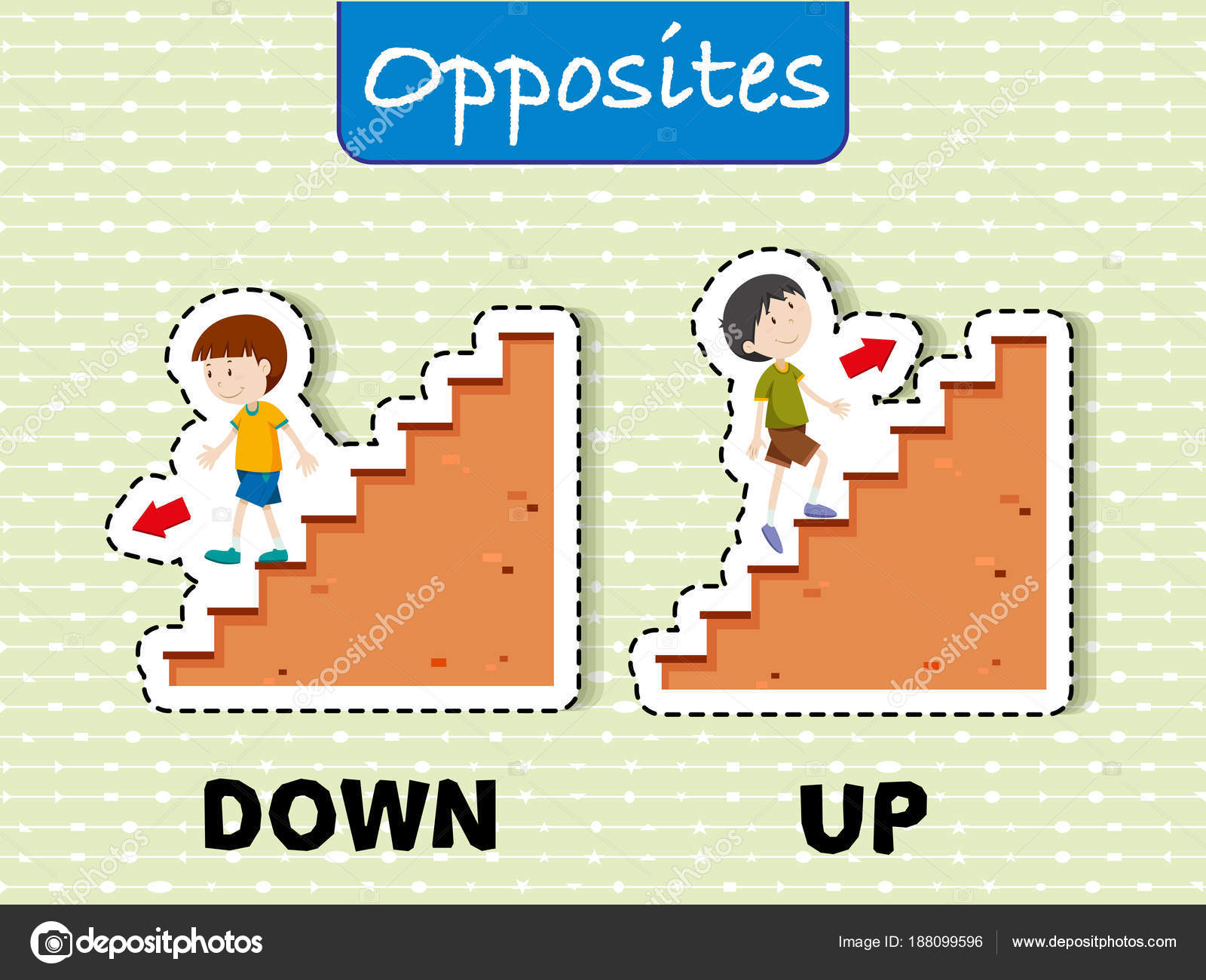Opposite Words For Down And Up