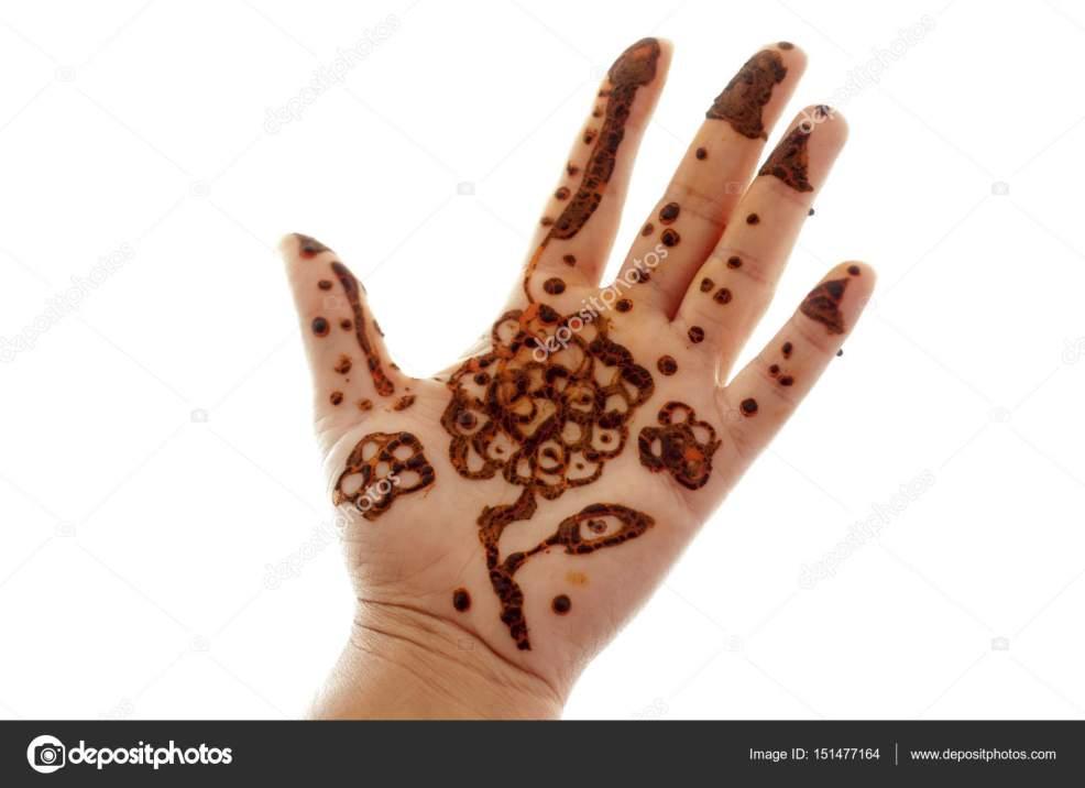 женщина руку с тату хной стоковое фото Depkasami 151477164