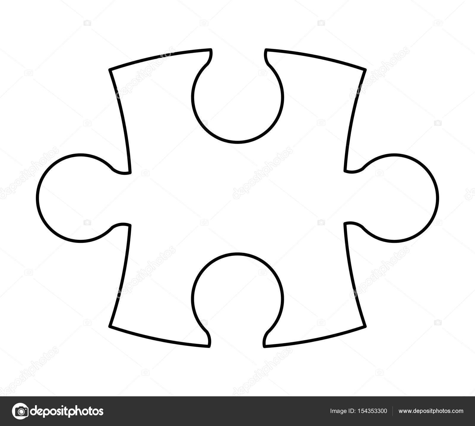 Quebra Cabeca Silhueta Vector Simbolo Icone Do Design
