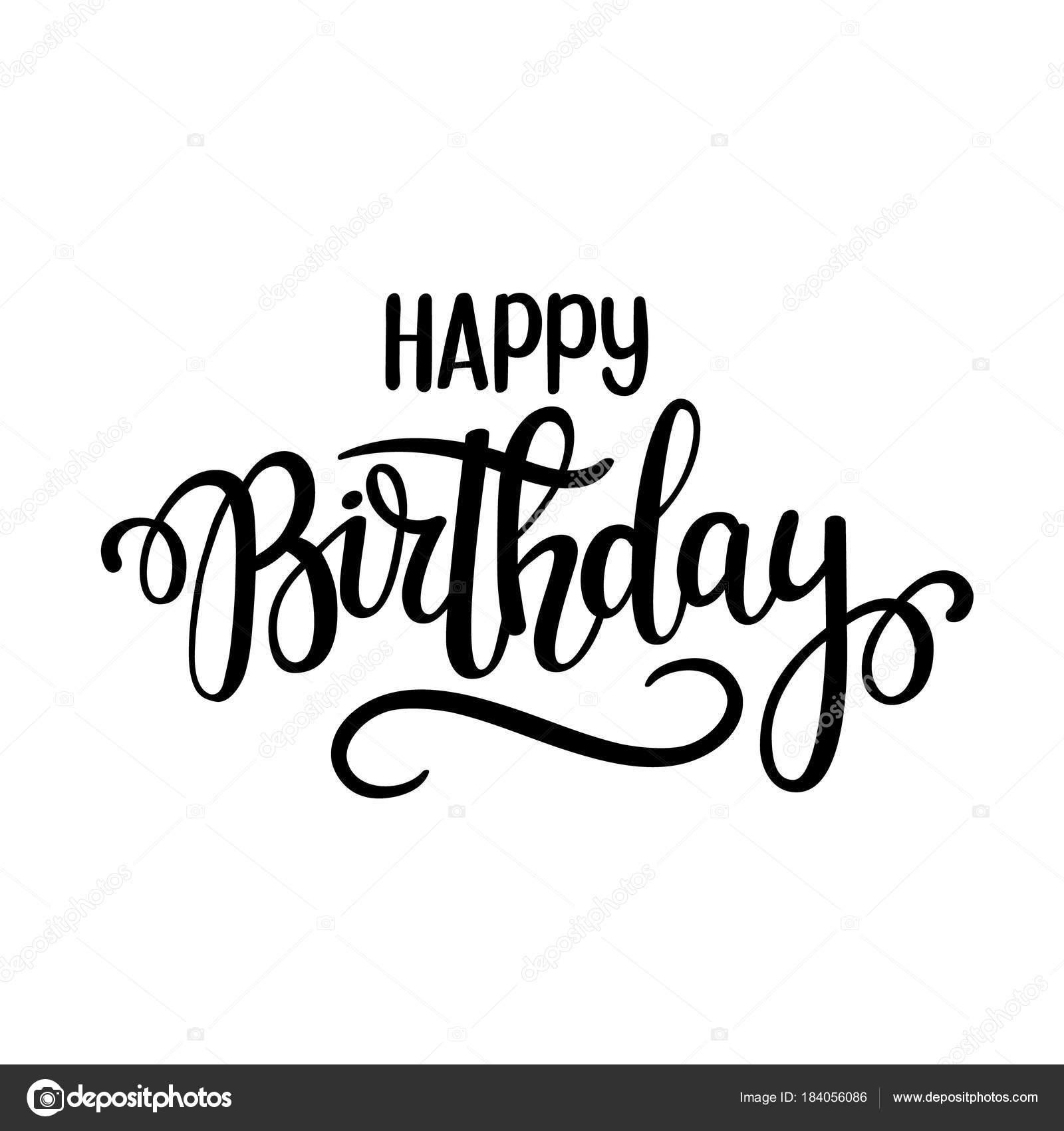 Disegno Vettoriale Scritta Di Buon Compleanno Manifesti