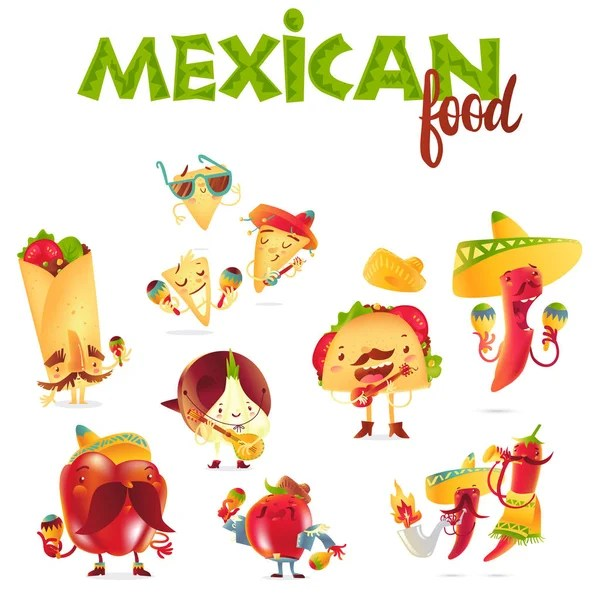 Mexican Food Stock Vectors Royalty Free Mexican Food
