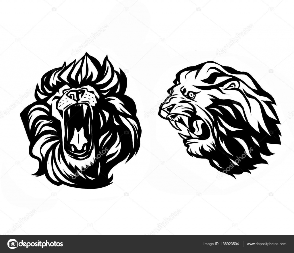 Lion Head Logotype Of Vector Template Creative
