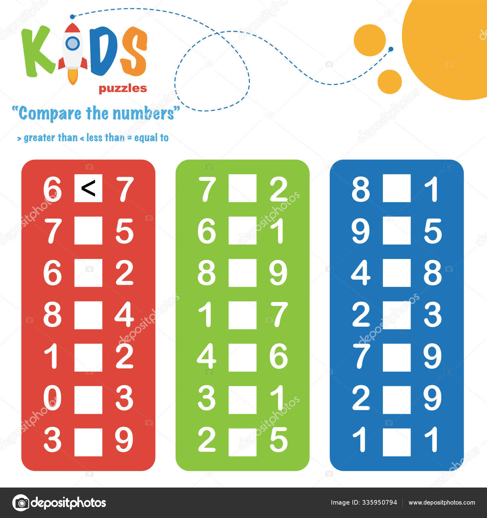 Compare Numbers Worksheet Practice Easy Colorful Worksheet