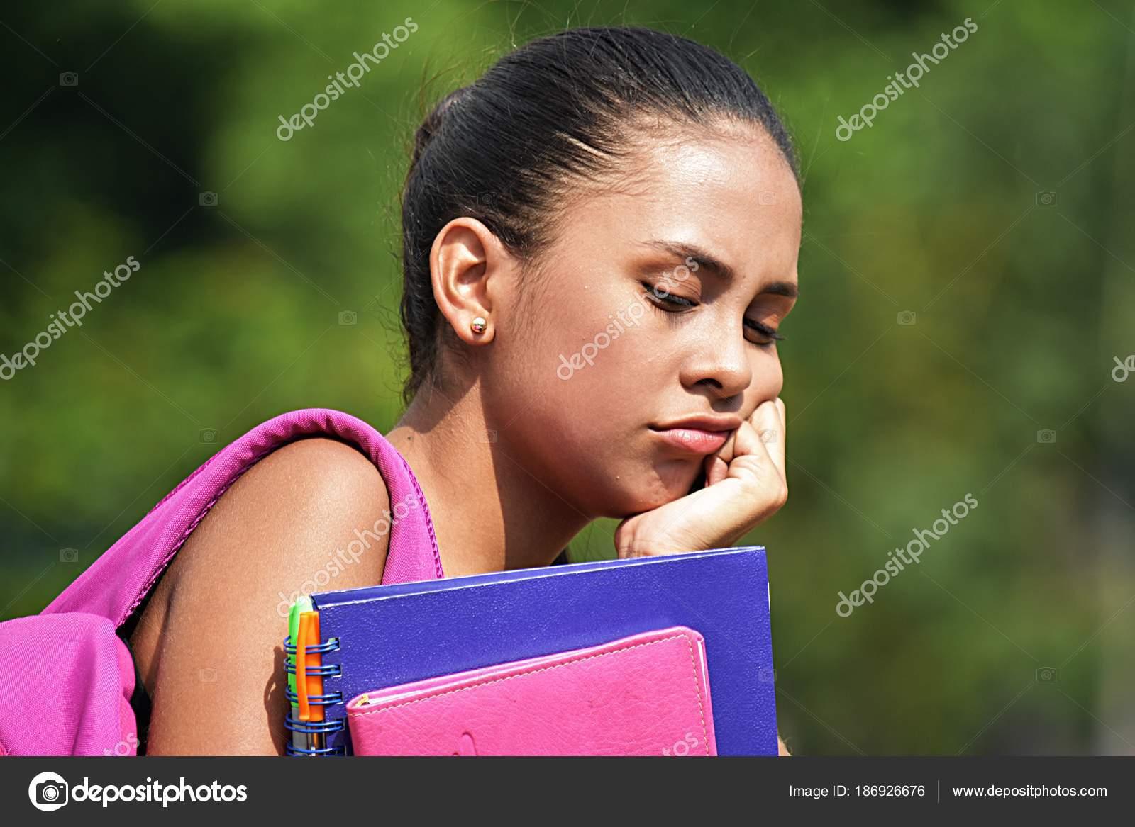 Hispanic Teenager School Girl Decision Making