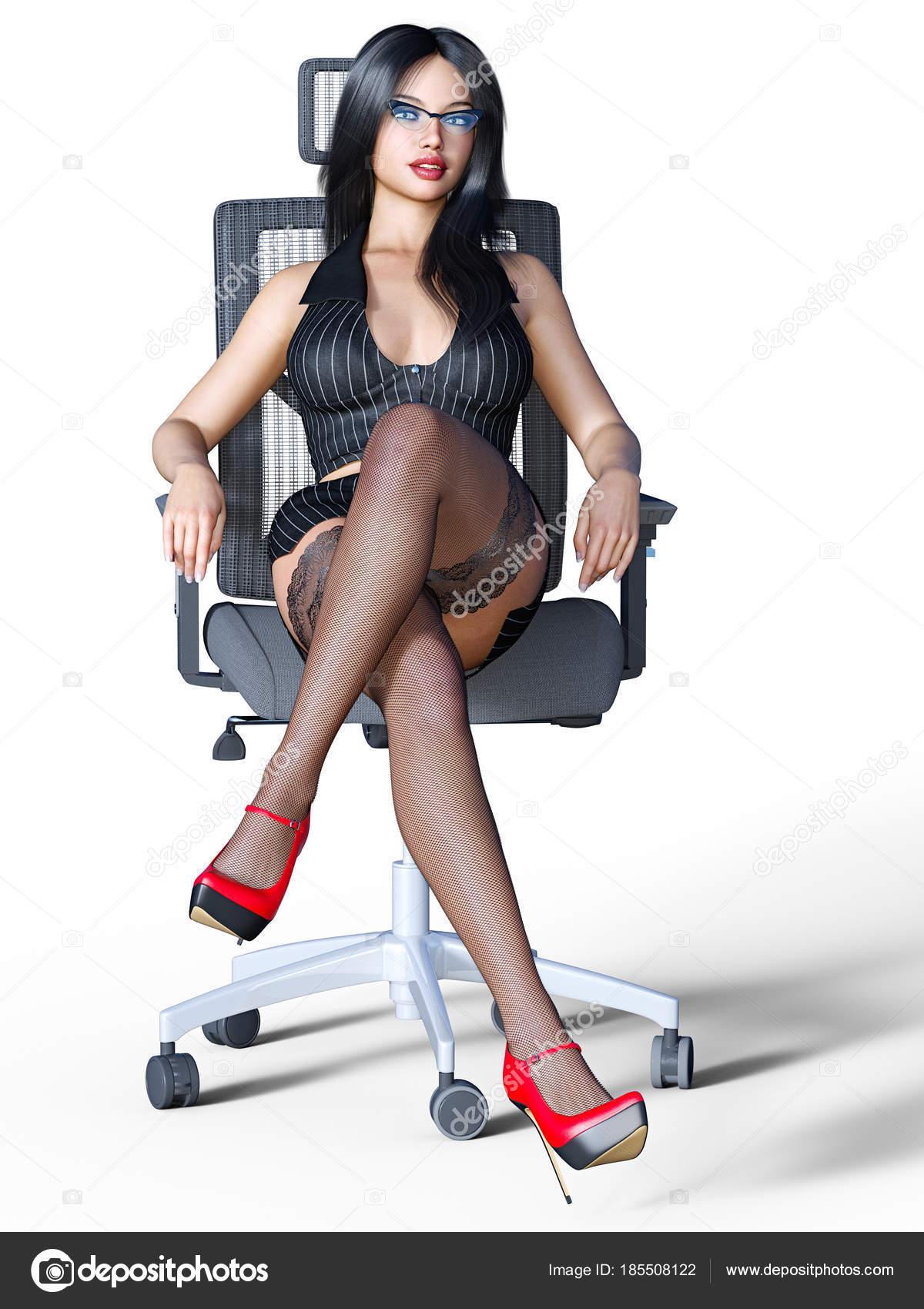 secretaire sexy en bas