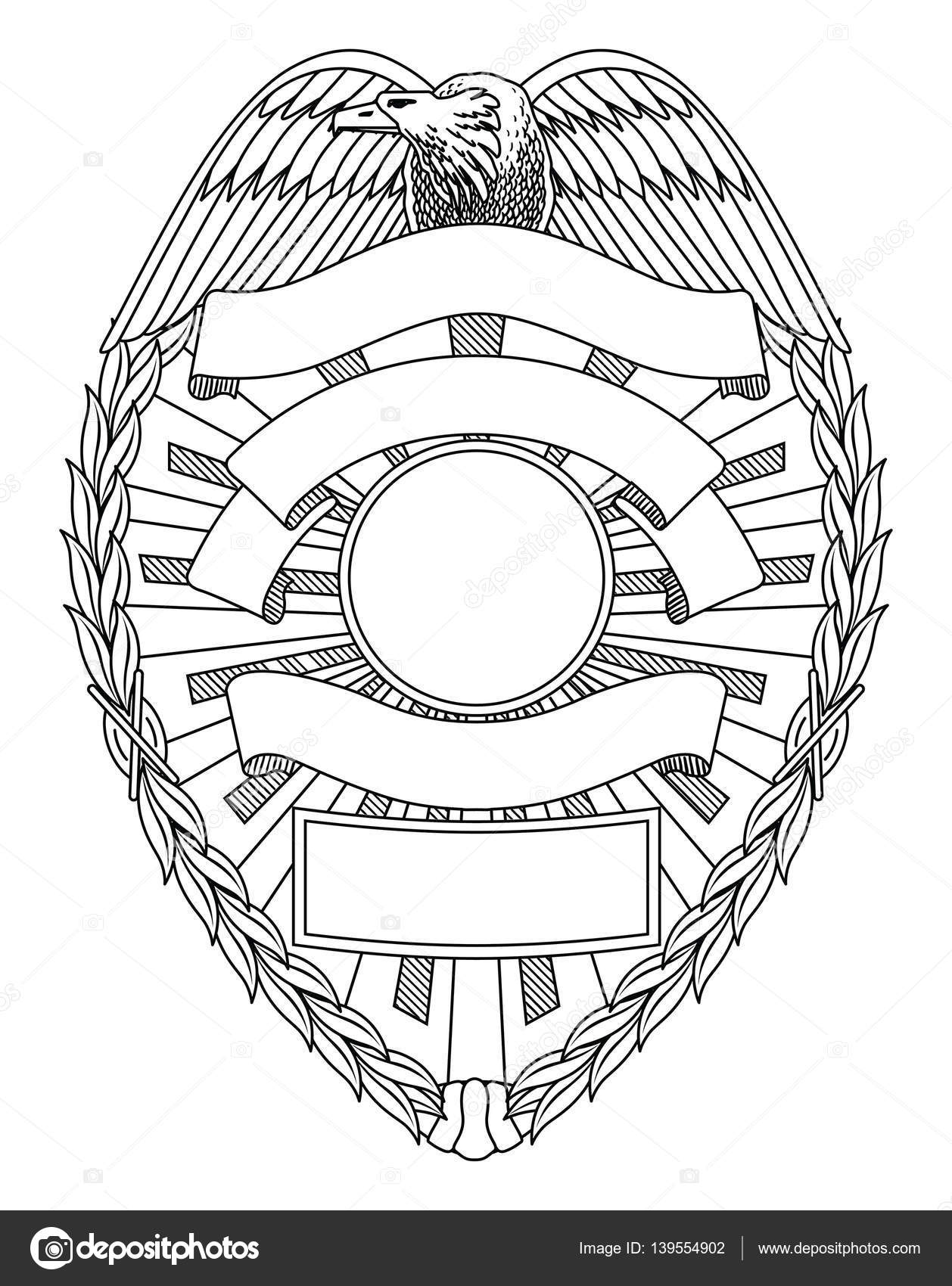 Police Badge Blank