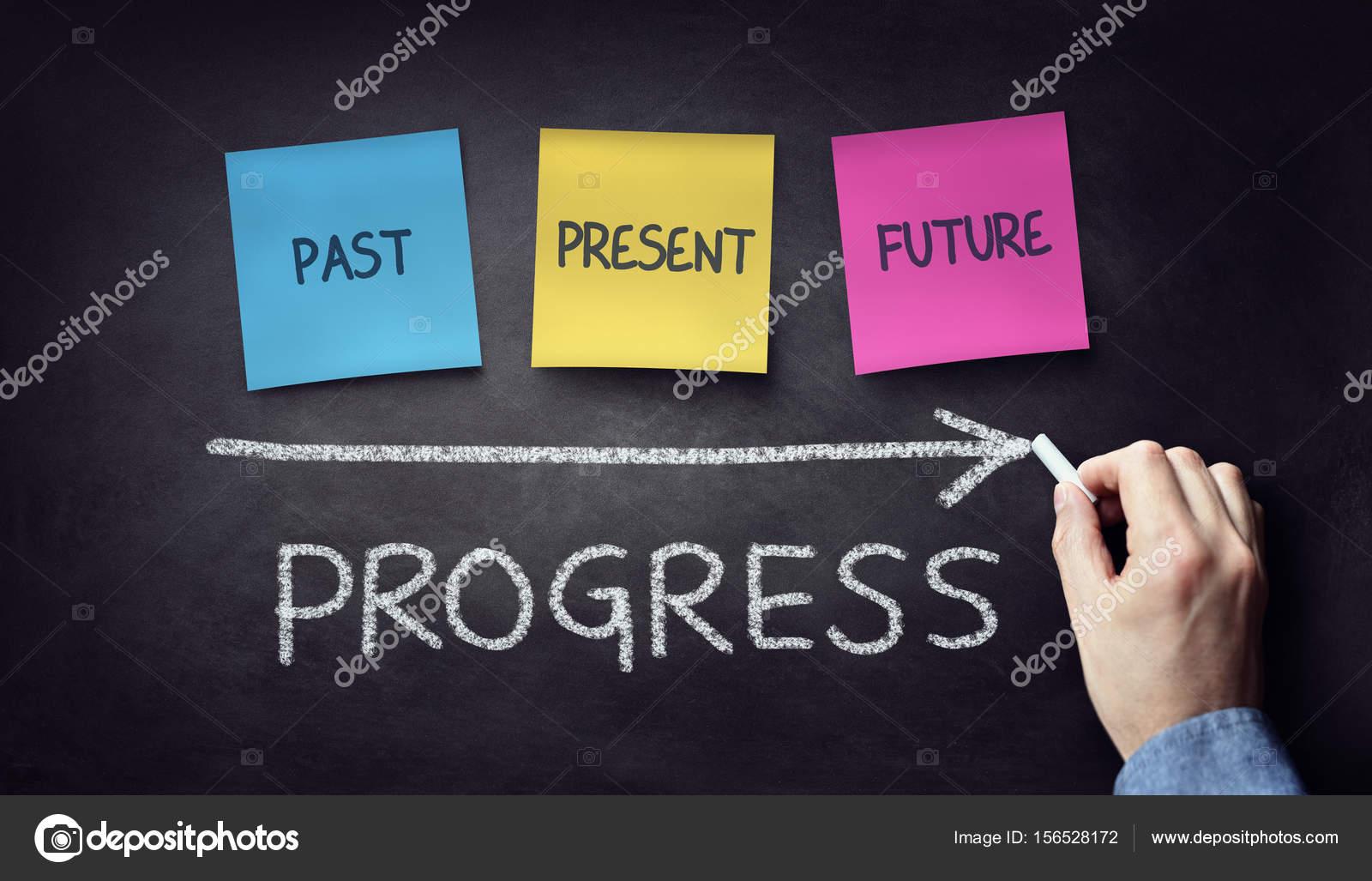 Passado Presente E Tempo Futuro Progresso