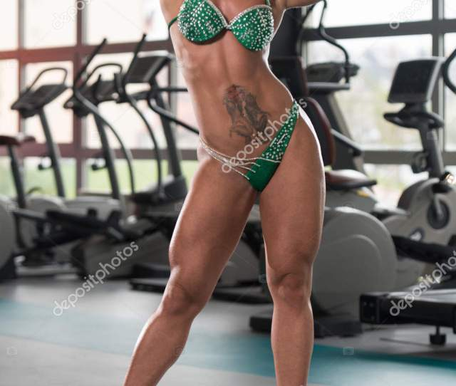 Young Sexy Fitness Woman Posing In Gym Stock Photo