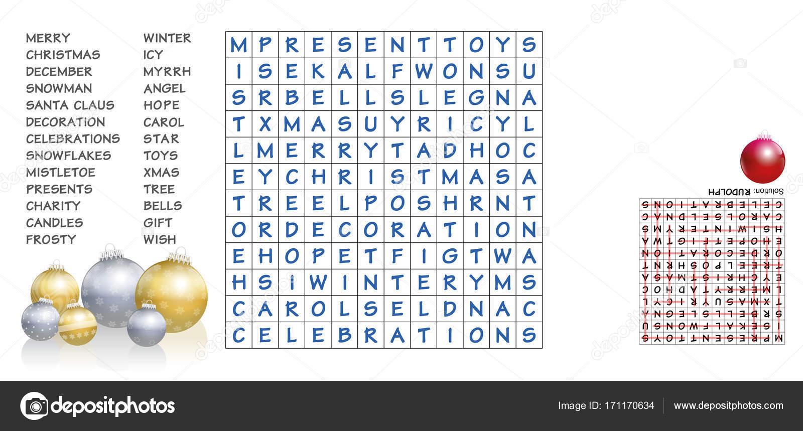 Weihnachten Worter Finden Puzzle